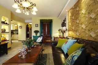 110平米东南亚装潢风格三室两厅装修效果图