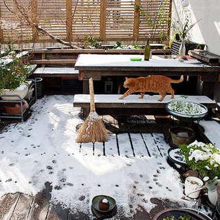 北欧混搭 露天阳台设计