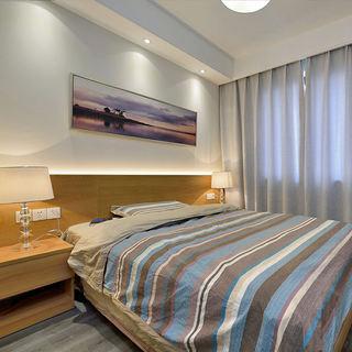 时尚素雅现代卧室装饰画装饰效果图