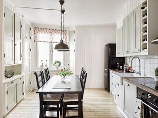 简洁北欧餐厨房一体设计装修图