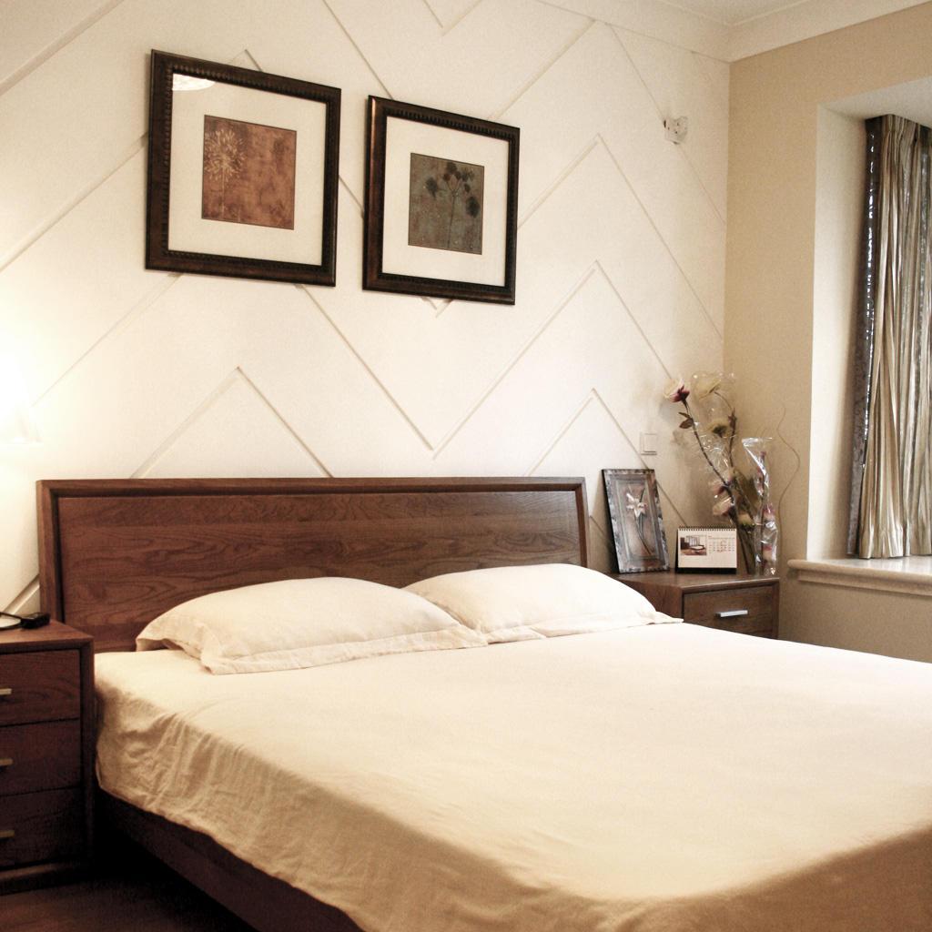 温馨宜家风卧室背景墙设计