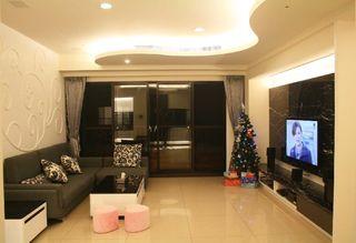 黑白现代两室两厅效果图