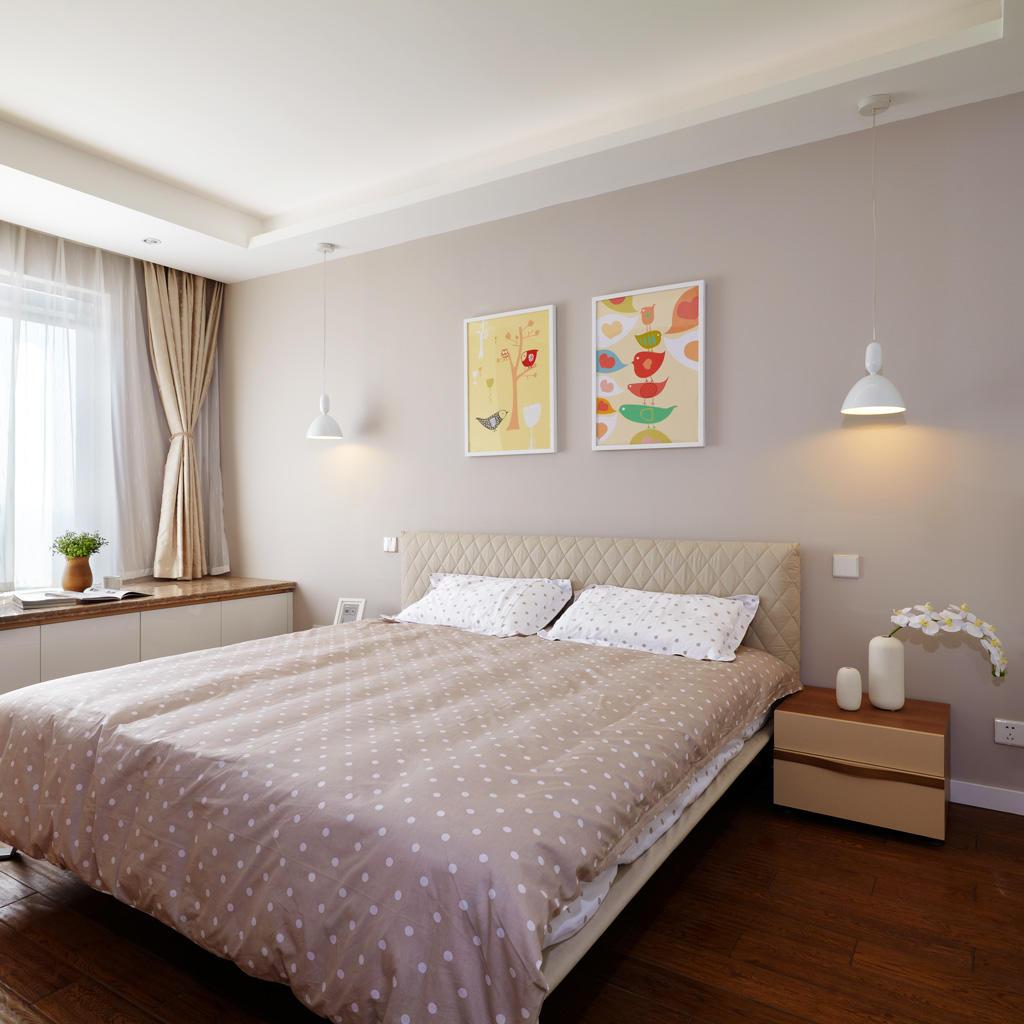 浪漫简约风 卧室照片墙设计