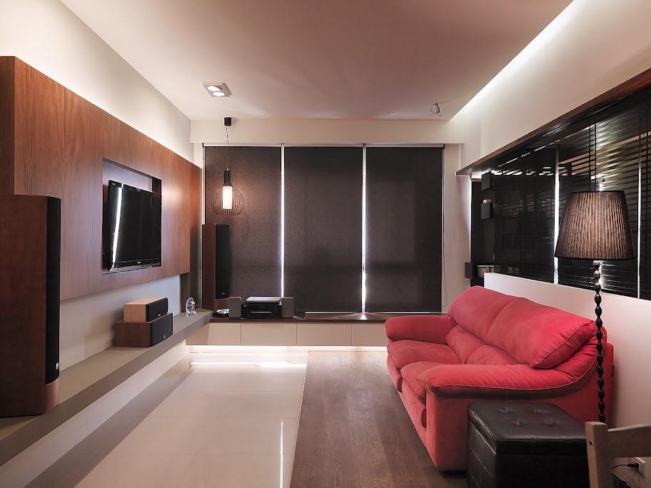 现代复古客厅软装设计
