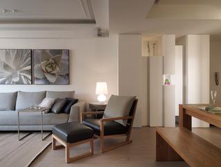 舒适现代客厅凳椅装饰图