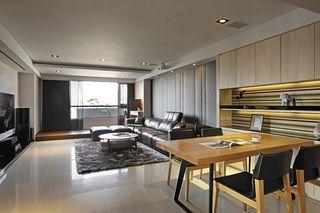 后现代风公寓客厅地台设计