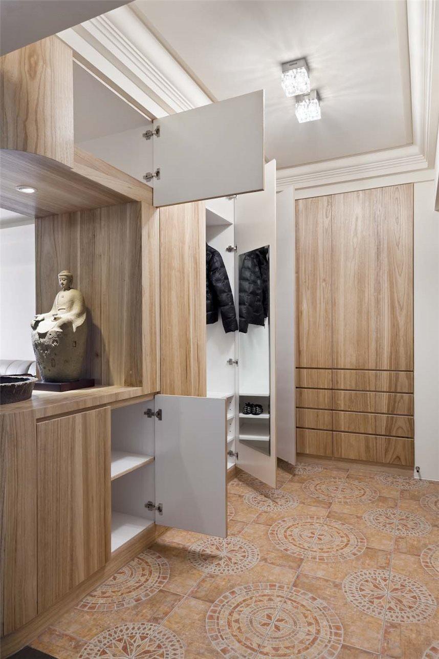 家居现代美式风格衣帽间定制衣柜装饰图