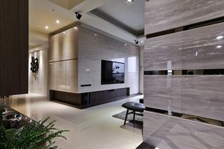 时尚后现代大理石隔断墙设计