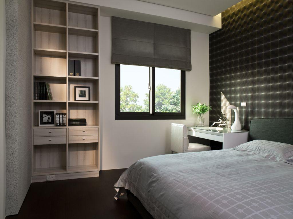 沉稳宜家现代风 卧室展示柜设计