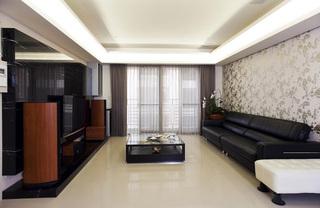 110平米现代时尚三室两厅简易装修