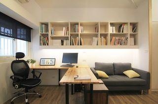 实木现代简约小书房装修案例图