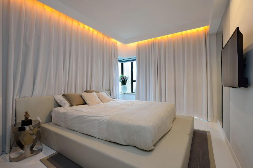 时尚简约卧室窗帘效果图
