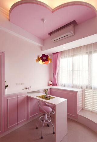简约风格粉色室内吊顶设计图