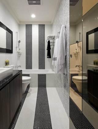 时尚马赛克美式卫生间设计