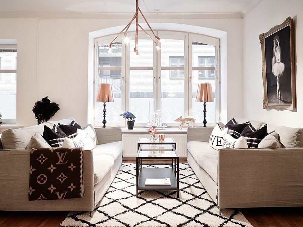精致复古北欧风 客厅沙发效果图