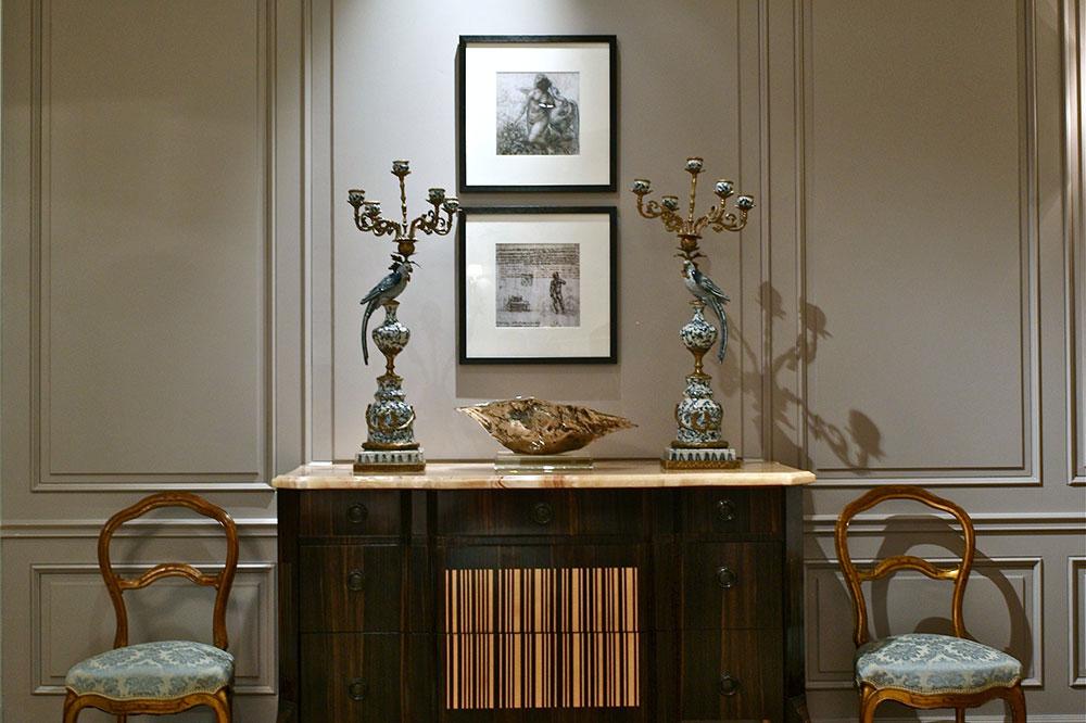 欧式新古典风格室内玄关展示柜设计