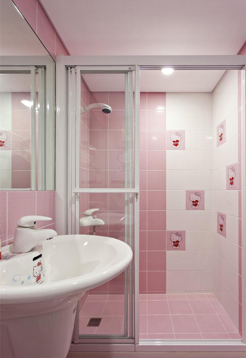 简约2平米粉色卫生间装修效果图