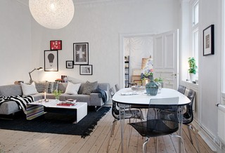 深色沉稳复古北欧公寓设计