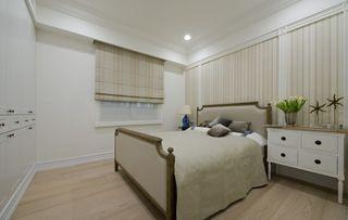 温馨休闲美式卧室窗帘设计