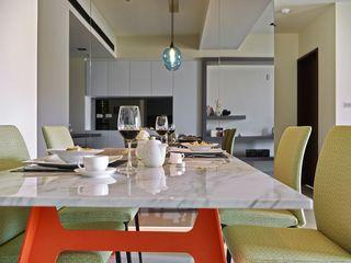 时尚宜家餐厅 大理石餐桌设计