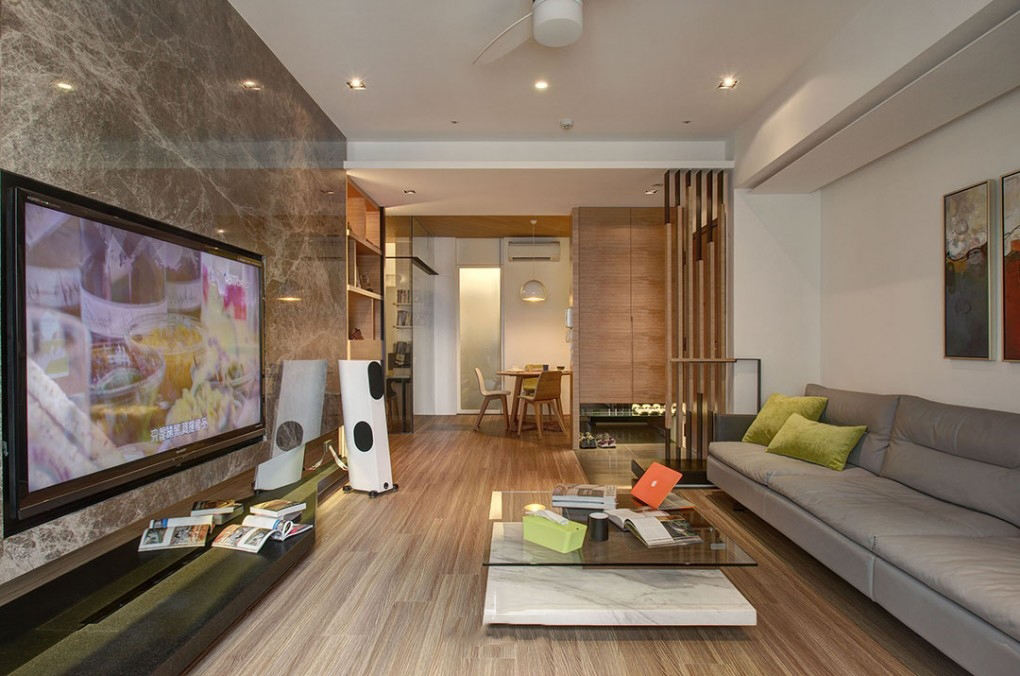 现代日式风三居家装效果图
