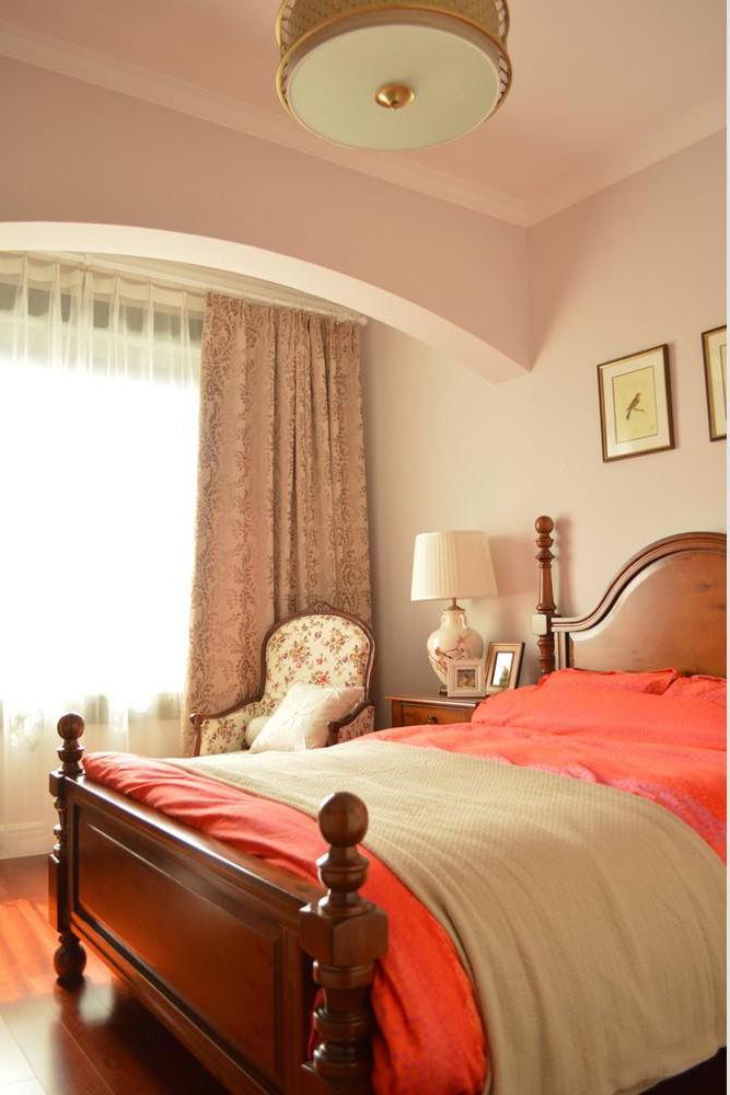 唯美美式田园风格卧室装潢欣赏图