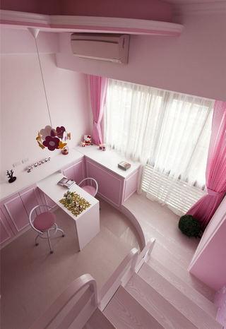 经典粉色样板间装修案例