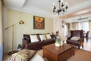 休闲乡村复古美式 三室两厅效果图