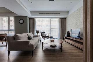 实木简约现代客厅装修效果图