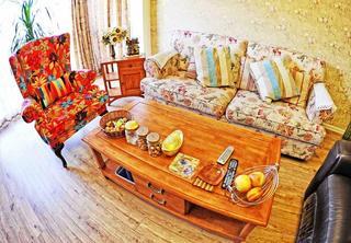 多彩复古东南亚 客厅沙发俯瞰图