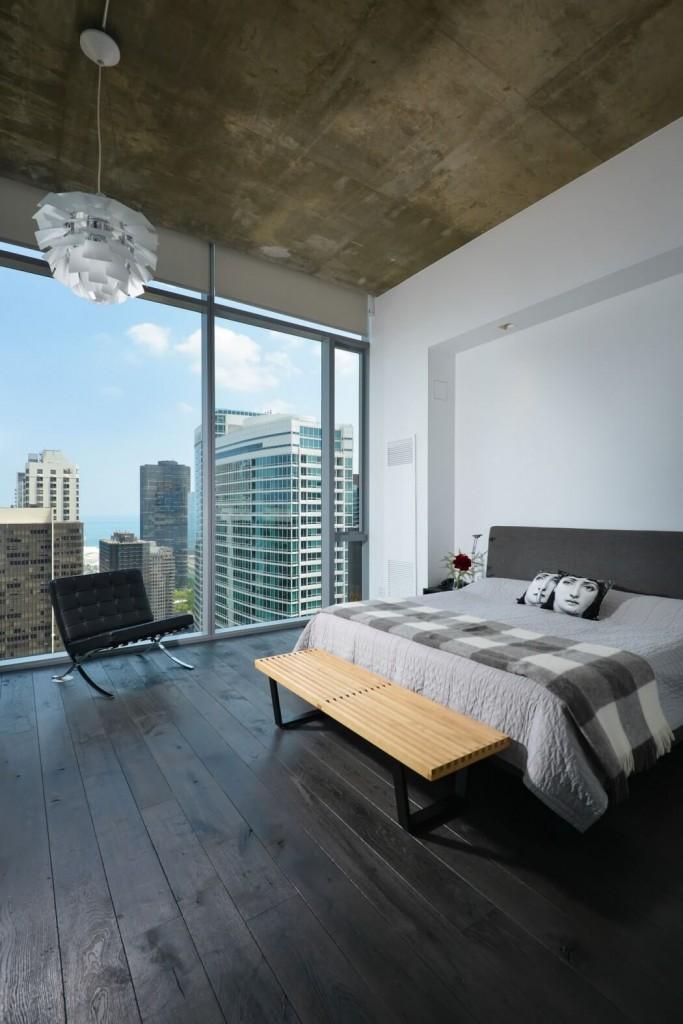 自然工业风混搭 卧室吊顶设计