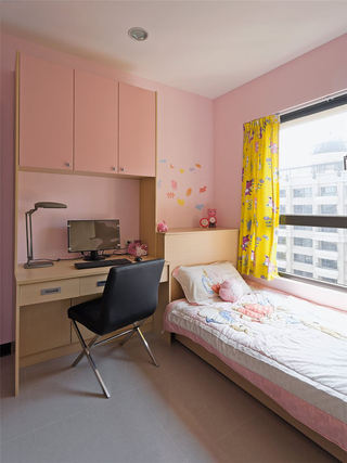 甜美粉色简约儿童房效果图