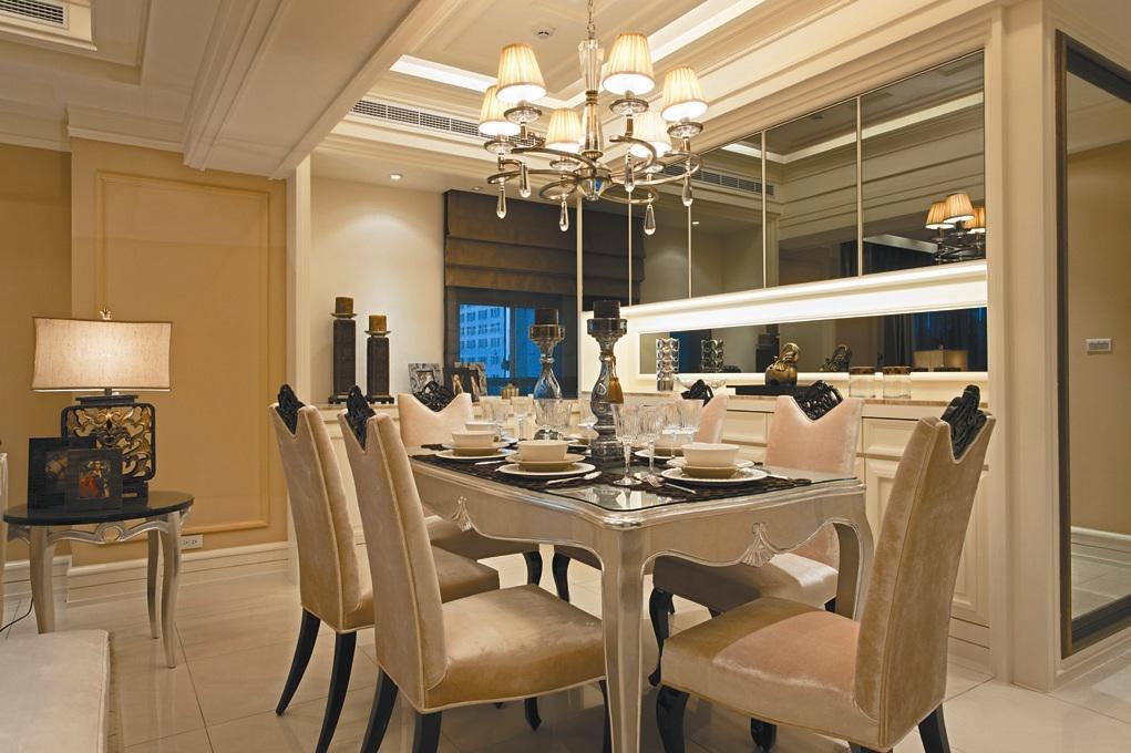 精美新古典风餐厅效果图