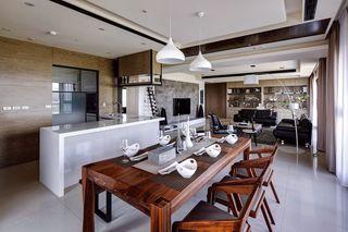 后现代混搭餐厅 实木家居设计