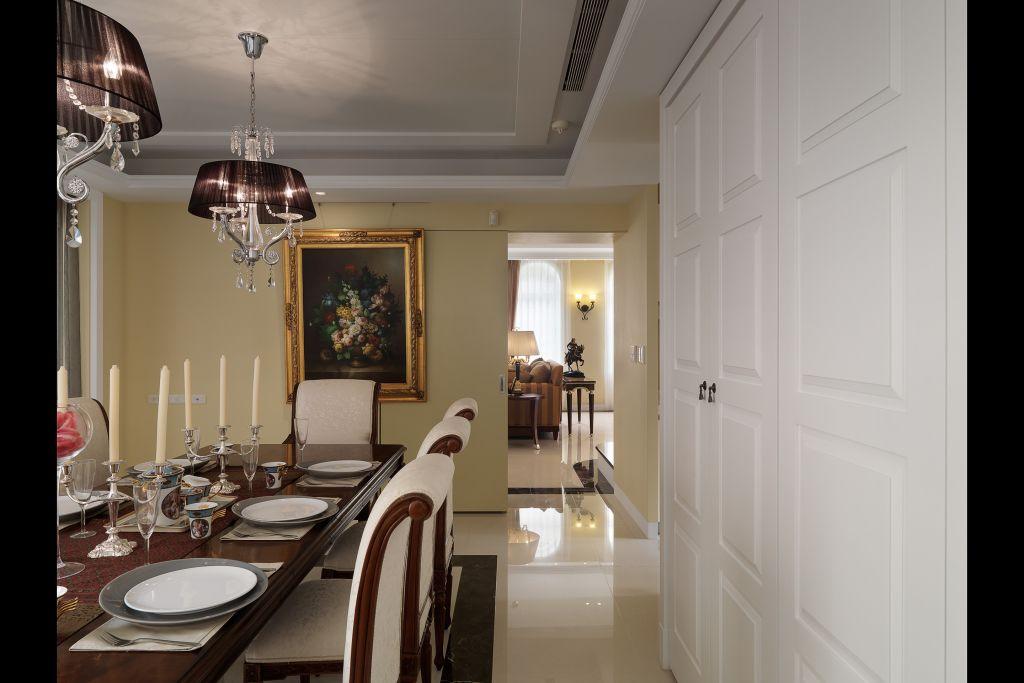 古典简欧风餐厅过道效果图