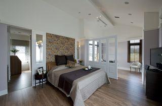 复古美式 卧室背景墙效果图