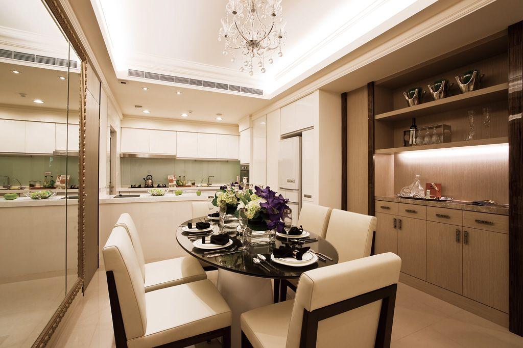 时尚大气现代风 厨餐厅一体设计