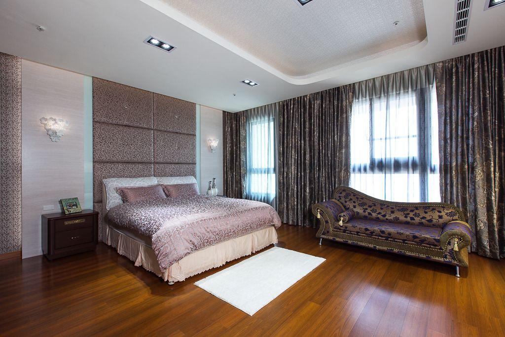 大气现代风卧室窗帘效果图