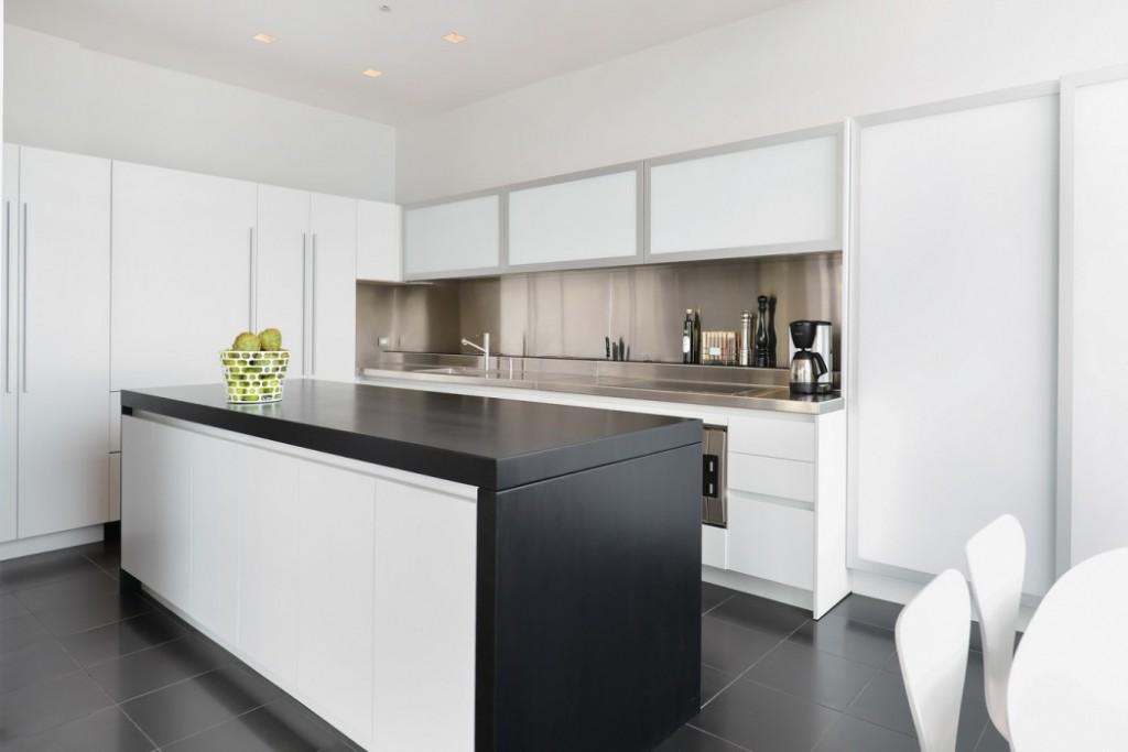 黑白现代风 厨房吧台装修
