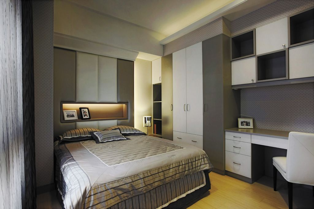 时尚摩登现代风卧室效果图