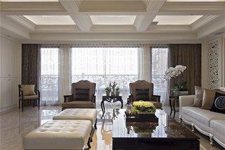 白色优雅欧式风格别墅效果图