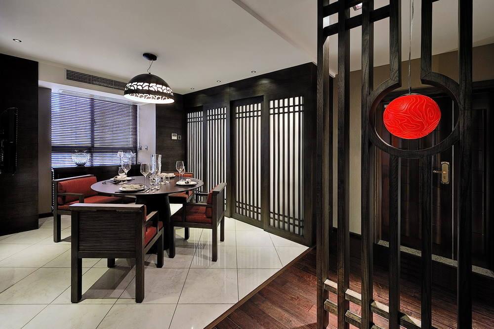 成熟仿古现代餐厅布置效果图