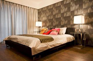 摩登现代风卧室背景墙设计