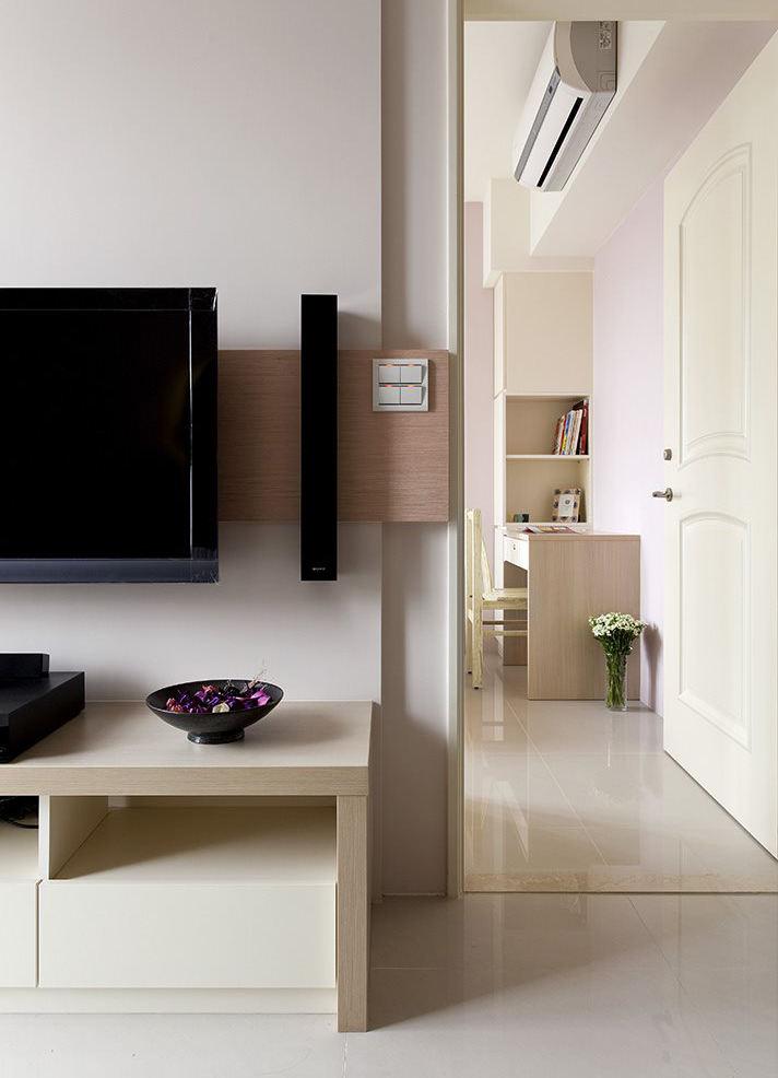 时尚简约家居室内乳白色门装饰效果图