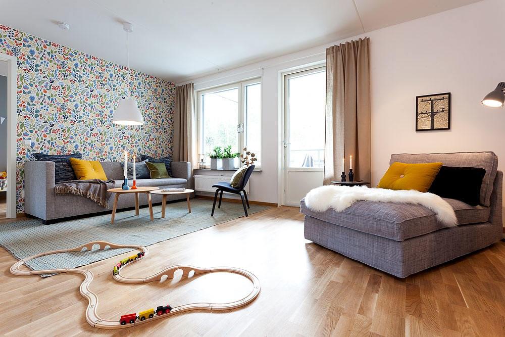 时尚现代客厅马赛克墙纸装饰