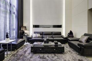 大气精致现代客厅真皮沙发装饰效果图