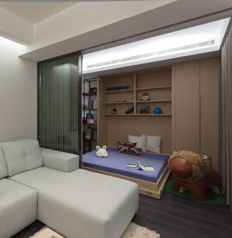 简约室内家居多功能床设计