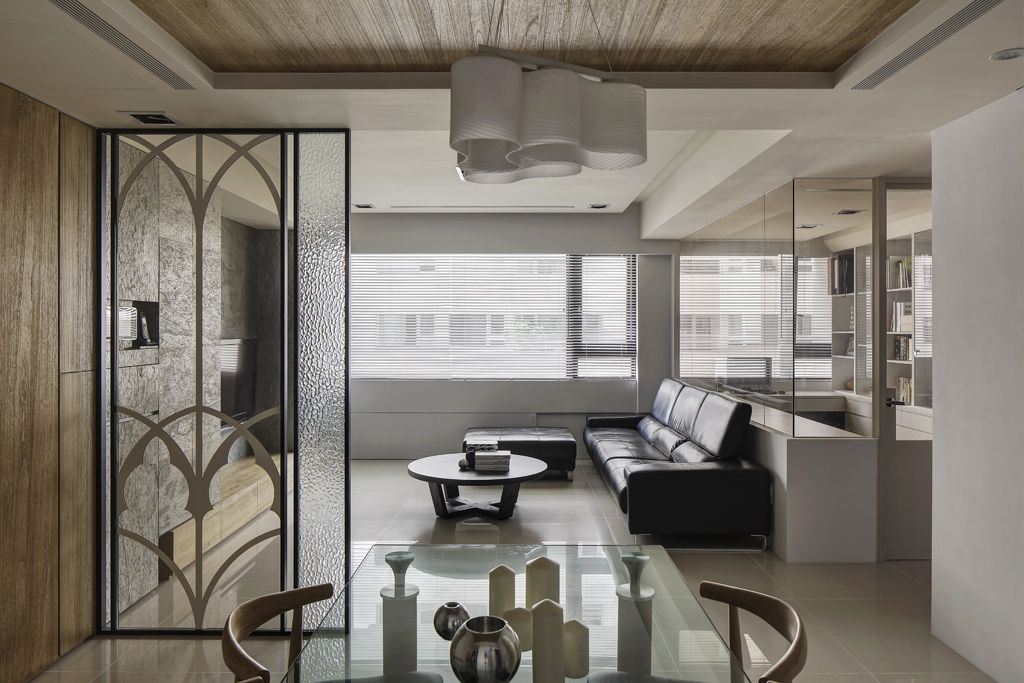 素雅现代风格 公寓室内隔断装修设计