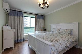 乡村古朴田园风格卧室窗帘搭配图