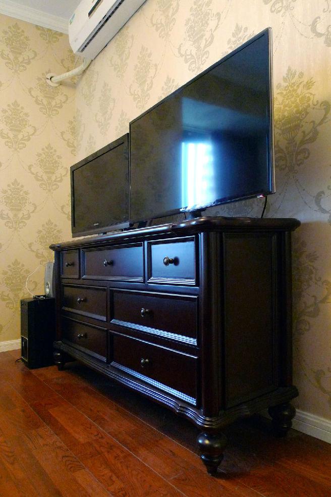 古朴怀旧美式风格电视收纳柜效果图